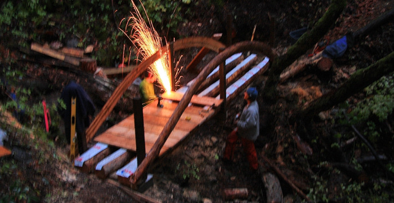 Bridge Construction on Tikwalus Heritage Trail - Oct 2011.