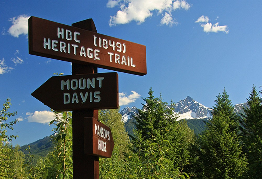 HBC Directional Sign - HBC Heritage Trail