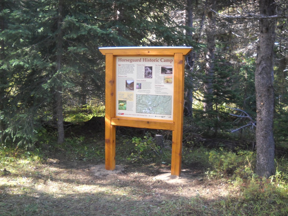 Historic kiosk - HBC Historic Trail