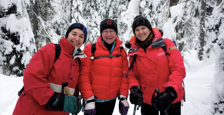 Hope Mountain Centre Women's Snowshoe