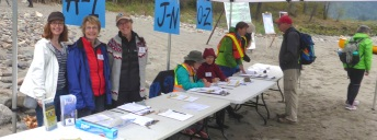 Volunteers at check in