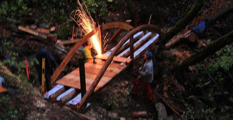 Bridge Construction on Tikwalus Heritage Trail - Oct 2011.