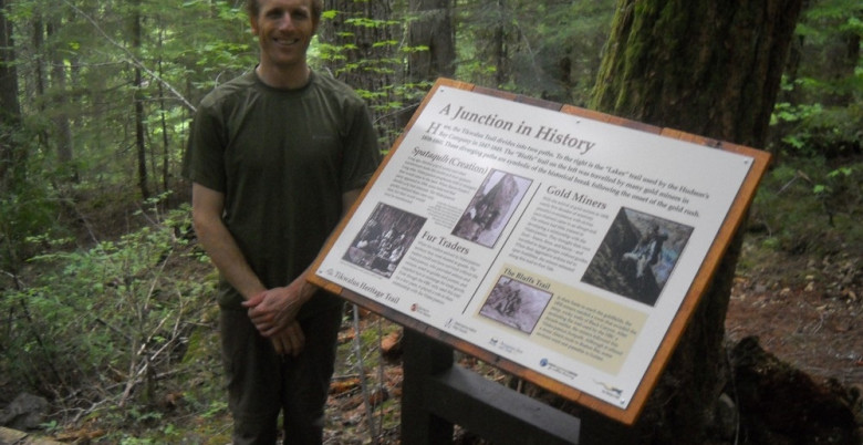 Tikwalus Heritage Trail - Anders Hopperstead At KM 4.2 Junction Sign - June 2012