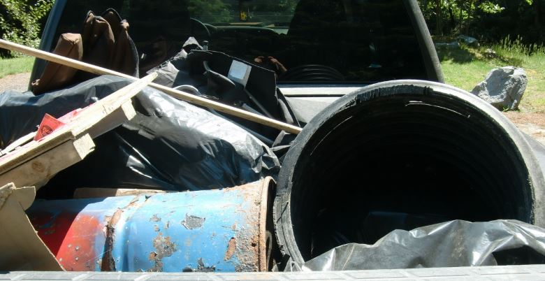 Pickup Loaded with Garbage