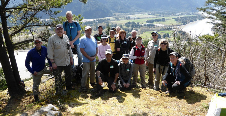 Group at Landstrom Lunch Stop - Hope Mountain Centre