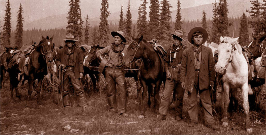 HBC History - irst Nations horse packers in the 1890's.