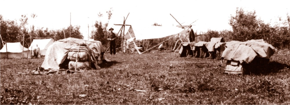HBC History - An overnight camp on the Brigade Trail.