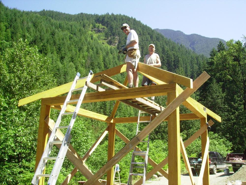 Kiosk Under Construction - HBC Heritage Trail