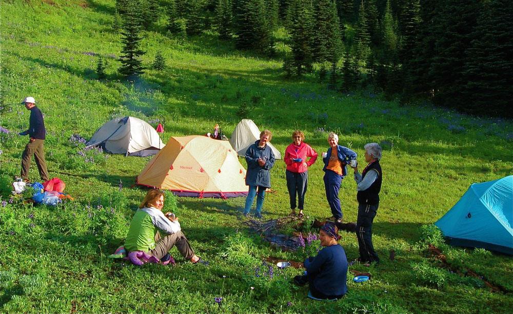 Tents at Deer Camp - HBC Historic Trail