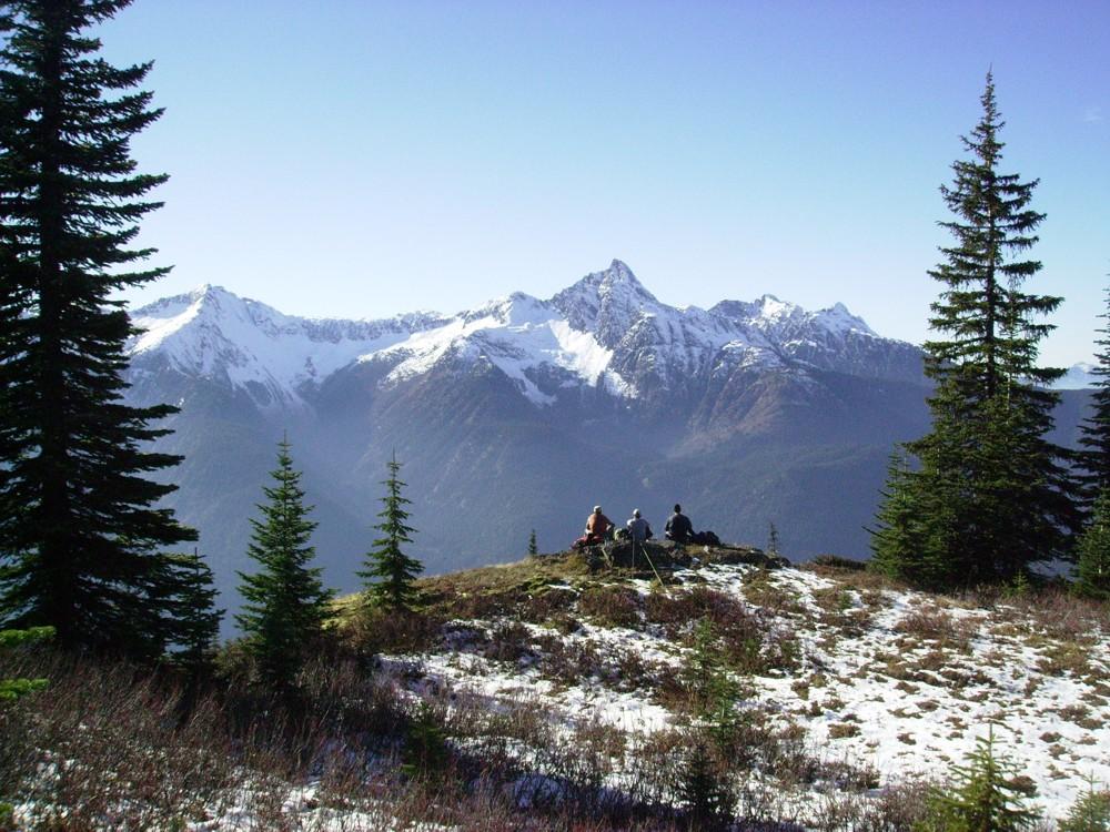 Hikers on Mount Davis - HBC Historic Trail