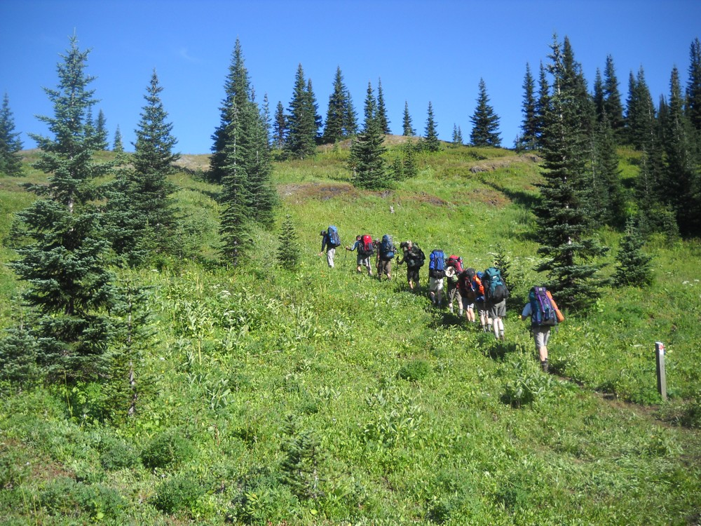 Hiking out of Deer Camp - HBC Historic Trail
