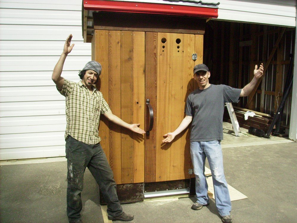 Outhouse Construction - HBC Heritage Trail