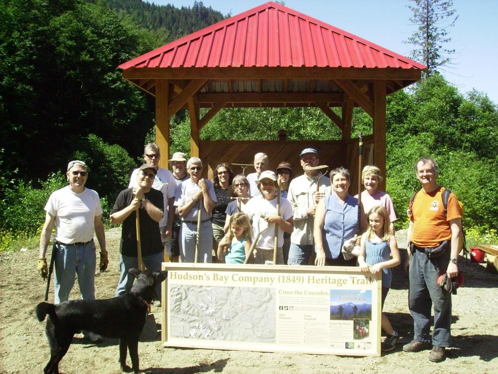 Peers Creek Work Party - HBC Heritage Trail