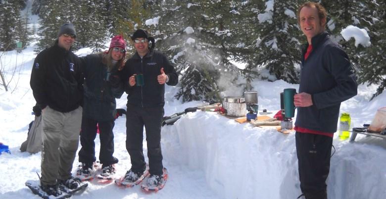 Family Snowshoe Snow Kitchen