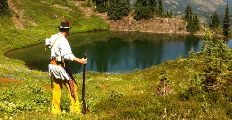 Historical re-enactor at Palmers Pond