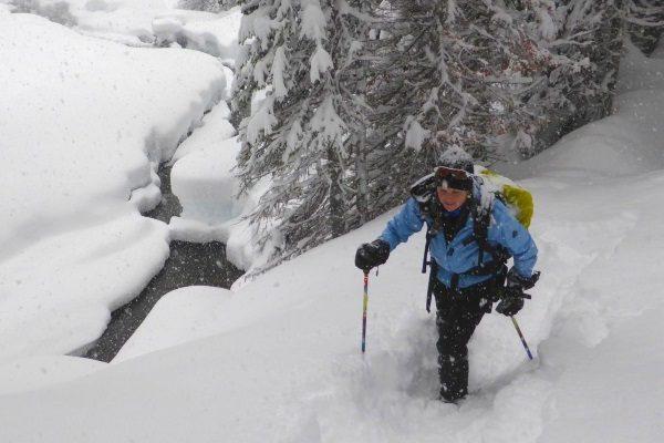Snowshoeing Beside Memaloose Creek