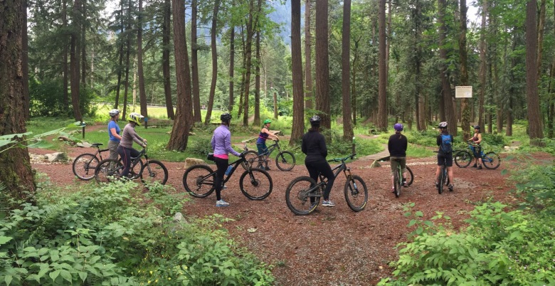 Women's biking skills